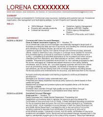 Commercial Lines Account Manager Resume Sample Livecareer