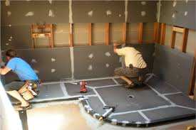 ready for tile custom shower pan for 14 ft x 8 ft glass block