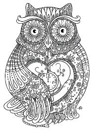 Coloring Page Owl Owl Color Page Mandala Elegant Owl For Coloring