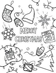 Free Printable Winter Holiday Coloring Pages Christmas Coloring