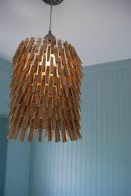 diy room lighting ideas. Wooden Clothespin Laundry Room Lamp Shade Diy Lighting Ideas