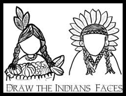 Small Picture Thanksgiving draw indian faces coloring printables activity