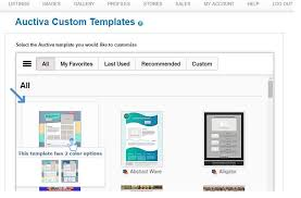 Listing Template How To Customize A Listing Template Auctiva Tutorials