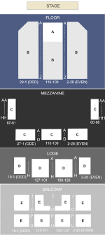 fisher theatre seating chart