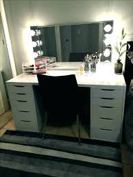 vanity with mirror and drawers makeup lights white
