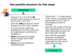 analyse the essay topic or question ppt one possible structure for this essay