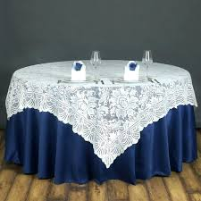 round lace tablecloth fl table overlay wedding party vinyl tablecloths x 60 120