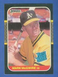 We did not find results for: 1987 Donruss 46 Mark Mcgwire Rated Rookie Var Card Top When Fliiped