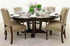 albany single pedestal table with 6 emerson chairs