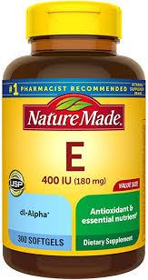 Nature Made Vitamin E 180 mg, 400 IU dl-Alpha ... - Amazon.com