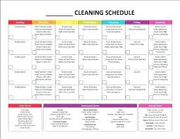 Weekly Home Cleaning Schedule Template Stingerworld Co