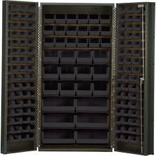 Storage Bin Cabinet Quantum Storage Cabinet With 132 Bins 36in X 24in X 72in Size