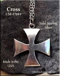 sterling silver iron cross maltese