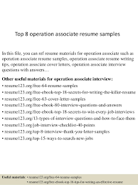 Logistics Associate Sample Resume Fascinating Top 44 Operation Associate Resume Samples