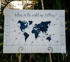 Map Seating Chart Wedding Brazzlebird The Classic Collection
