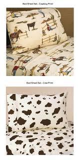 cowboy or cow print sheet sets