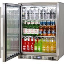 rhino glass door bar fridge stainless steel alfresco