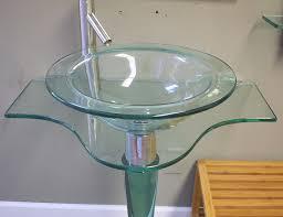 modern pedestal sink fresca bath vetro fresca netto modern glass pertaining to glass pedestal sinks learn