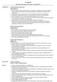 Human Resources Generalist Resume Senior Hr Generalist Resume