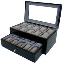 watch box def need this mine watch box watch box for 20 watches black matte finish xl extra large compartments soft cushions clearance window