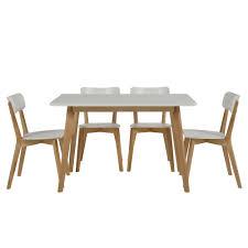 Esstisch / Küchentisch TAVOLA, Massivholz Birke, Tischplatte weiß ...
