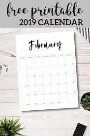 Free Printable 2019 Calendar Template Pages Free Monthly