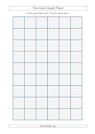 Two Line Graph Paper With 1 Inch Major Lines And 1 8 Inch