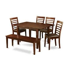 East West Furniture Picasso 6 Piece Dining Table Set Table With