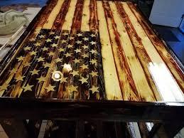 american flag wood wooden flag