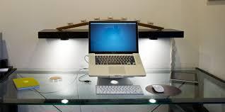 cable management glass top desk