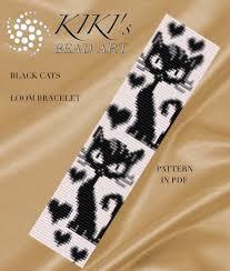 Bead Loom Bracelet Patterns Stunning Bead Loom Pattern Black Cats LOOM Bracelet Pattern In PDF Etsy
