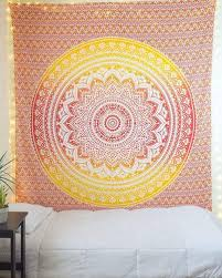 hippie mandala ombre tapestry wall