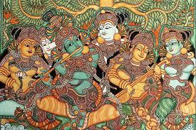 krishna mural painting kerala mural painting by pg reions