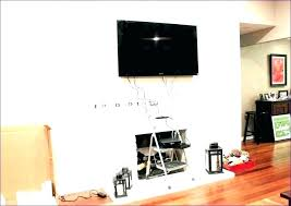 hiding wires in wall alg hung tv hide your mounted cable along hiding wires in wall ideas mounted tv hide brick uk