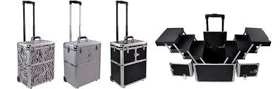 all in one trolley case black silver