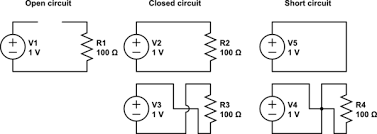 voltage open and short circuit questions electrical schematic