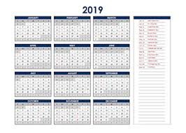 Calendar Excel Template 2019 Excel Calendar Download Free Printable Excel Templates