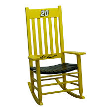 hinkle rocking chairs. Delighful Chairs Hinkle Chair Company Nascar Rockers YellowBlack Rocking Intended Chairs N
