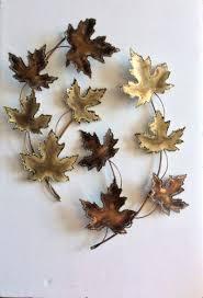 metal wall art maple leaves