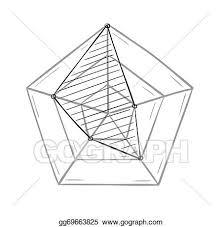 Line Chart Sketch Eps Illustration Sketch Of The Radar Chart Vector Clipart