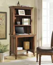 image of narrow computer desk with hutch