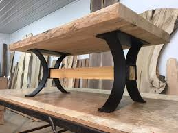 16 inch tall steel timber beam coffee table base coffee table legs flat black
