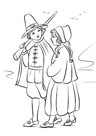 Small Picture Pilgrim Children coloring page Free Printable Coloring Pages