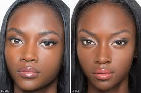 makeup guide before and after of contouring
