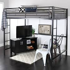 premium full size black metal loft bed black metal bunk bed9 black