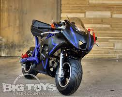 4 stroke gas power pro pocket bike mini motorcycle go bowen blue
