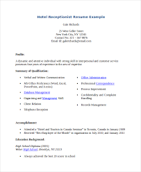 Receptionist Resume Impressive Receptionist Resume Template 40 Free Word PDF Document Download