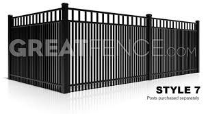 metal fence design. Style 7 Aluminum Fence Smooth Top Close Pickets Design Metal L