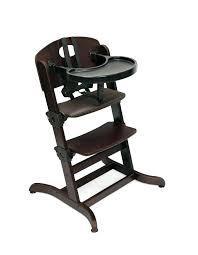badger basket evolve convertible wood high chair with tray and cushion abiie baby