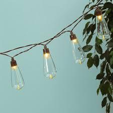 Globe String Lights Solar Powered Edison LEDs 6 Ft Timer Warm White